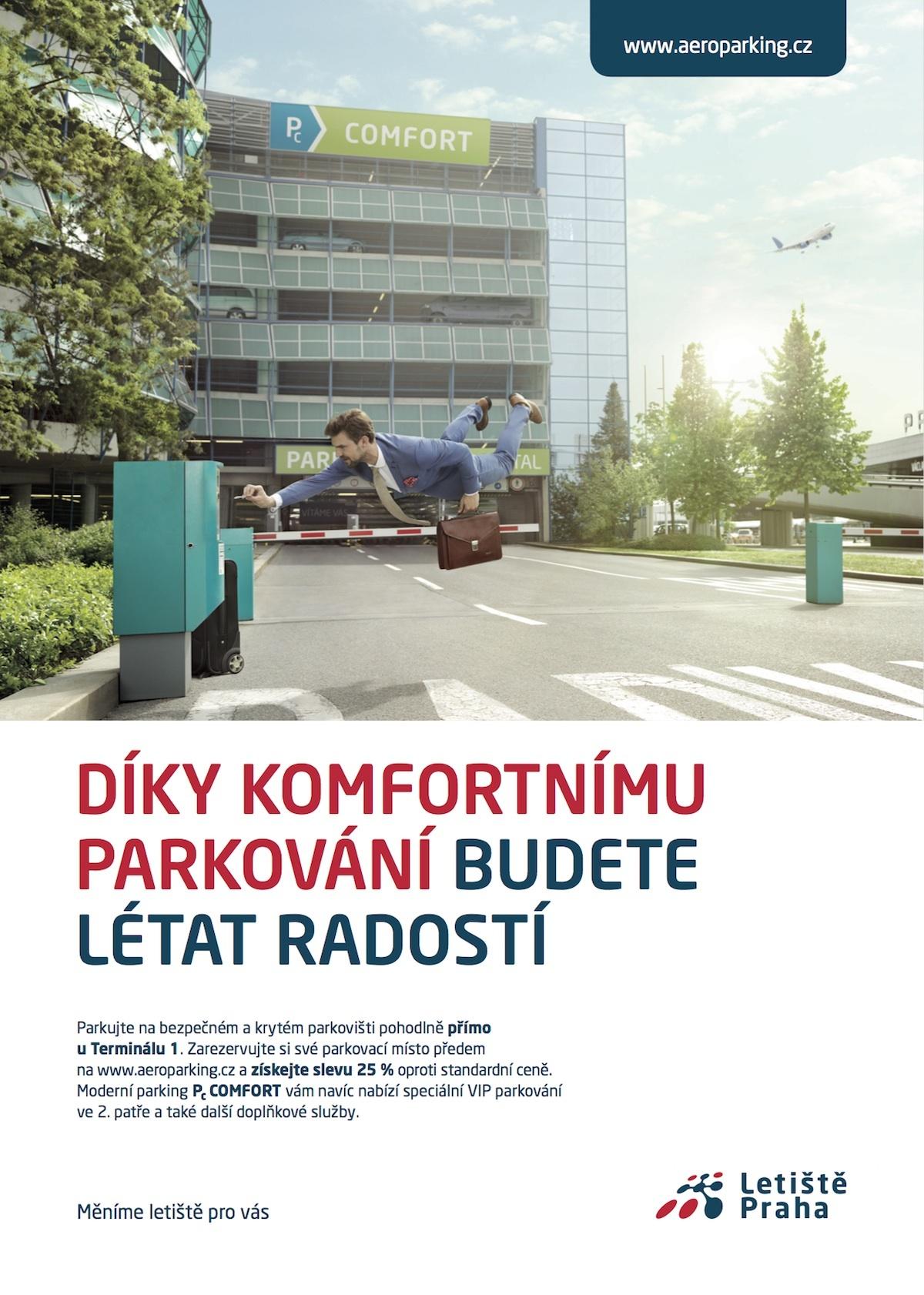 Plakát ke kampani Budete létat radostí