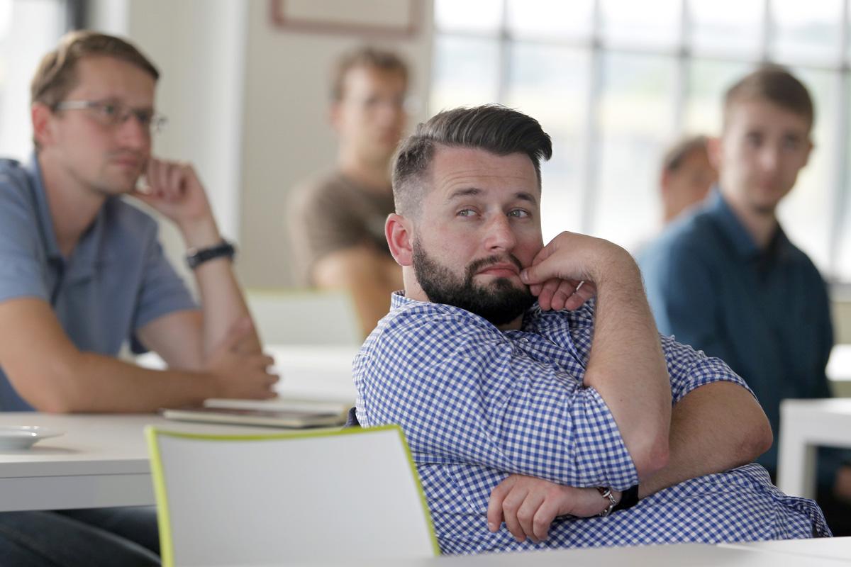 Na AppParade Meet mít dorazil i Jakub Komenda z Vodafonu. Foto: Jiří Koťátko