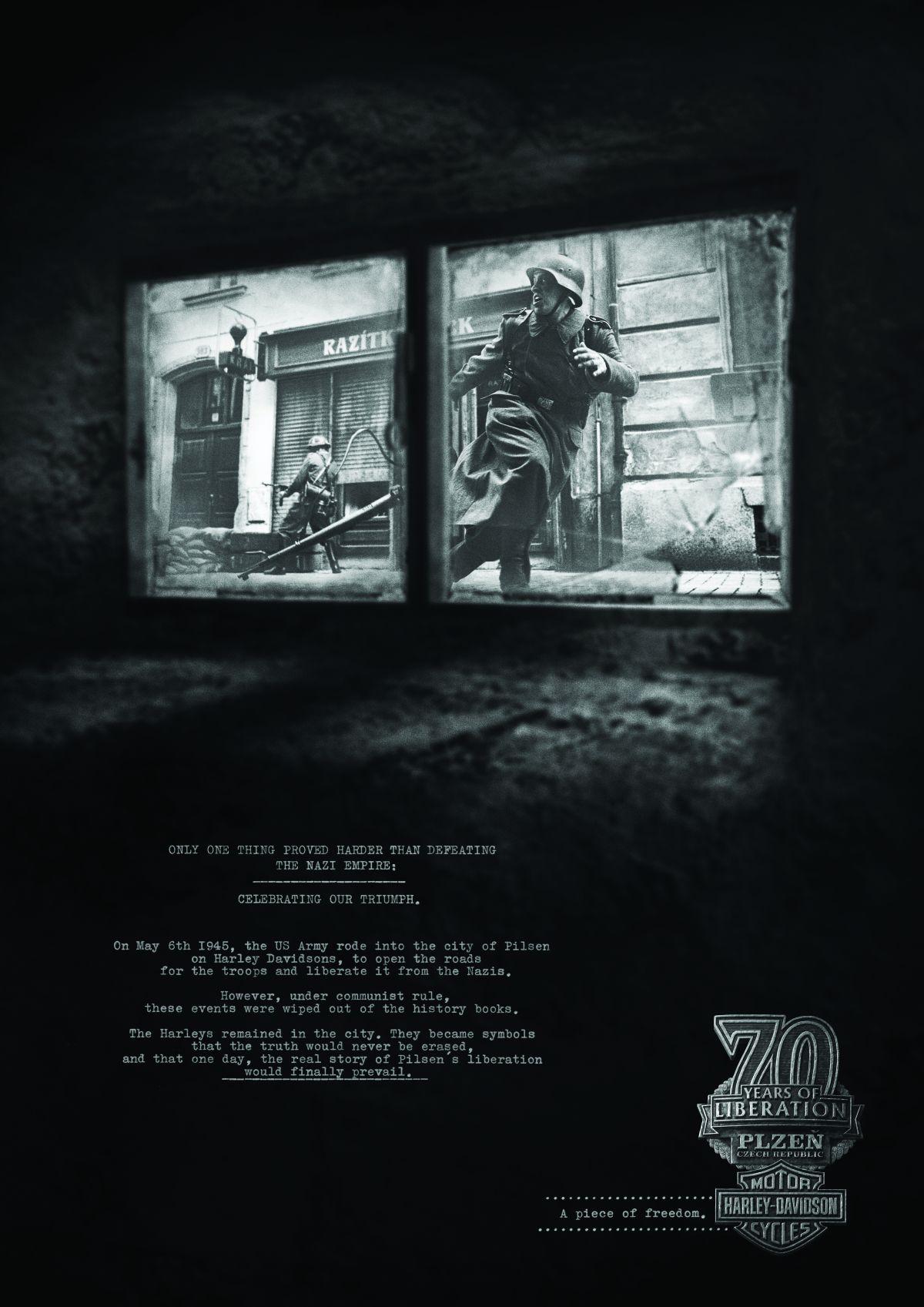 Kampaň Harley-Davidson s tématem osvobozování Plzně