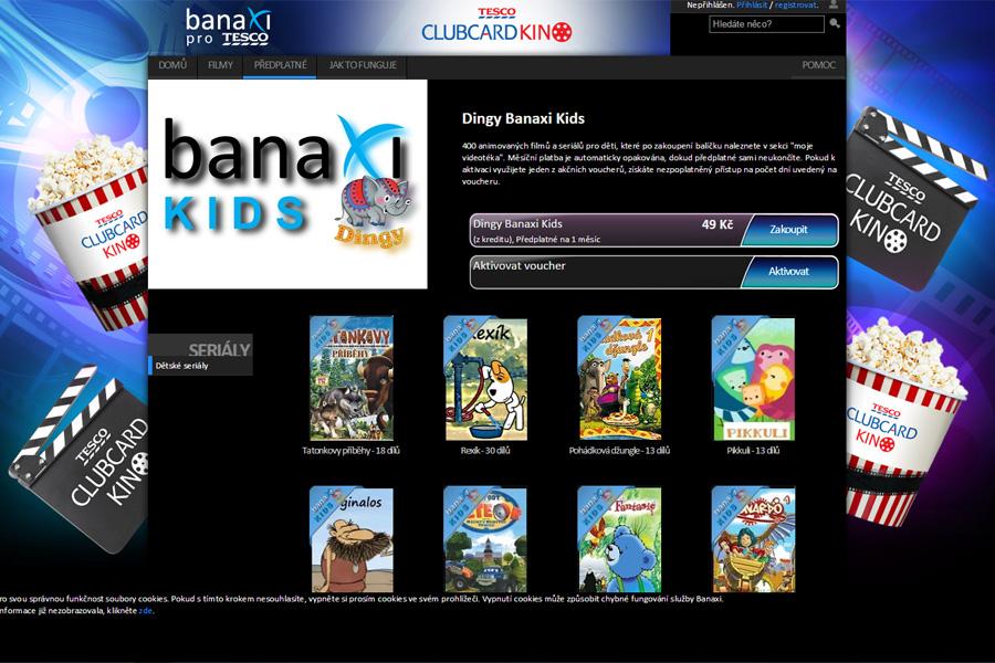 Nabídka dětských pořadů videotéky Banaxi