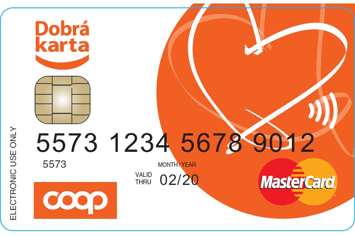 Předplacená karta Coopu Dobra karta