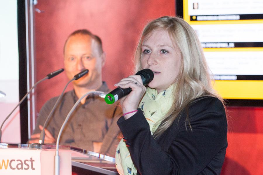 Mark Waugh, globální marketingový ředitel Newcastu, a Ilona Kelly z českého Googlu. Foto: Jarda Šícha