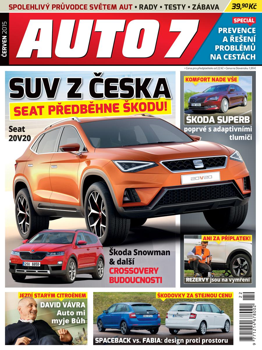 Titulní strana občerstveného časopisu Auto7