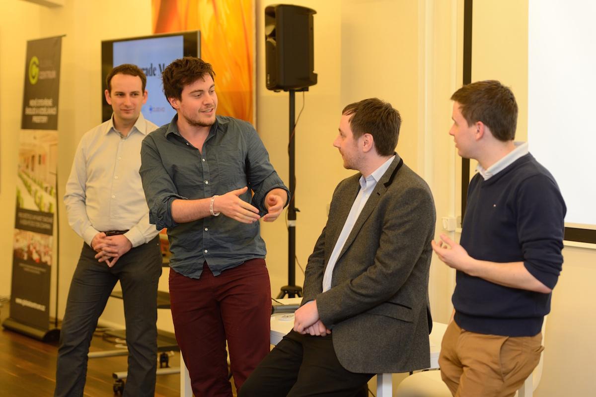 Zleva Michal Bilka, Dominik Veselý, Petr Dvořák a Lukáš Stibor na prvním AppParade Meet