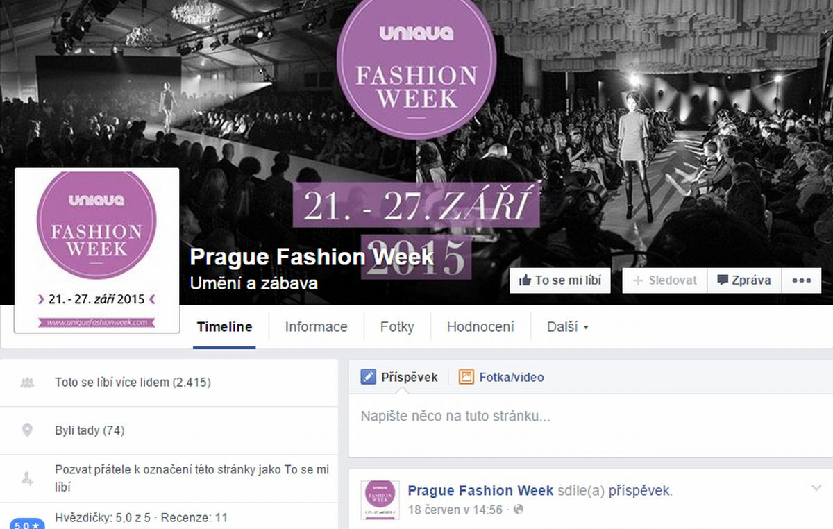 V logu jméno Unique Fashion Week, všude jinde ale stále Prague Fashion Week