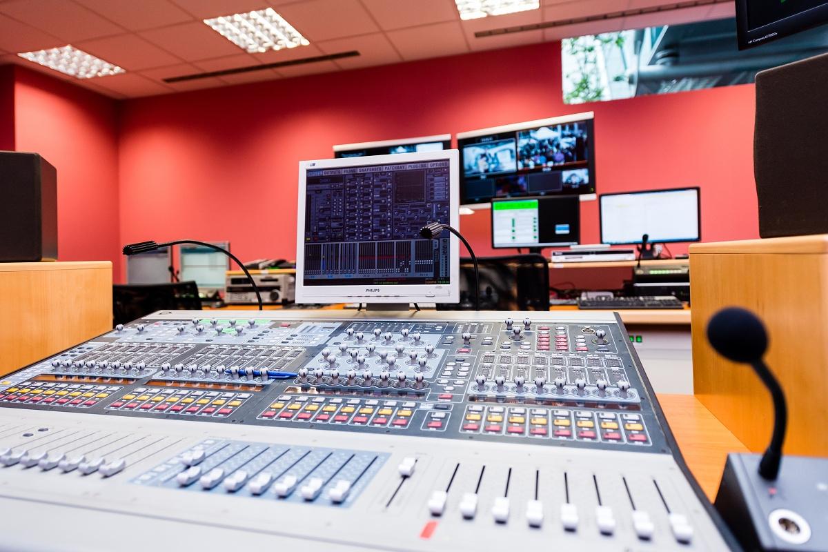 Technické zázemí nového studia televize Óčko. Foto: Vojta Herout
