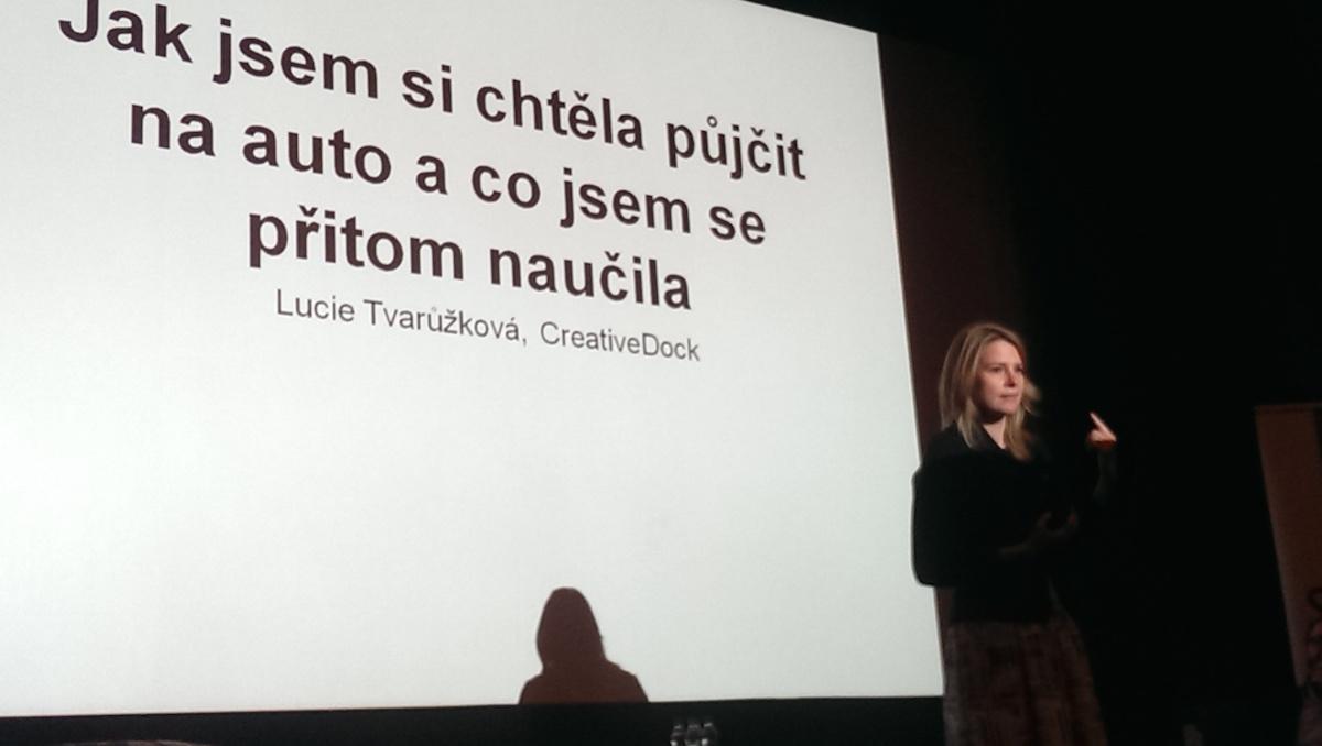 Lucie Tvarůžková mluvila o projektu půjček v dubnu v kině Atlas