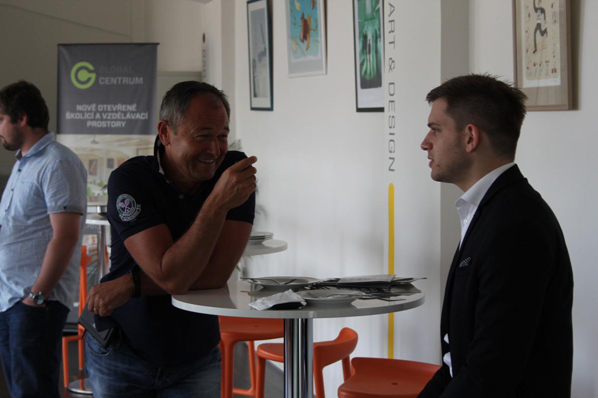Jan Mühlfeit v Global Centru. Foto: Václav Minář