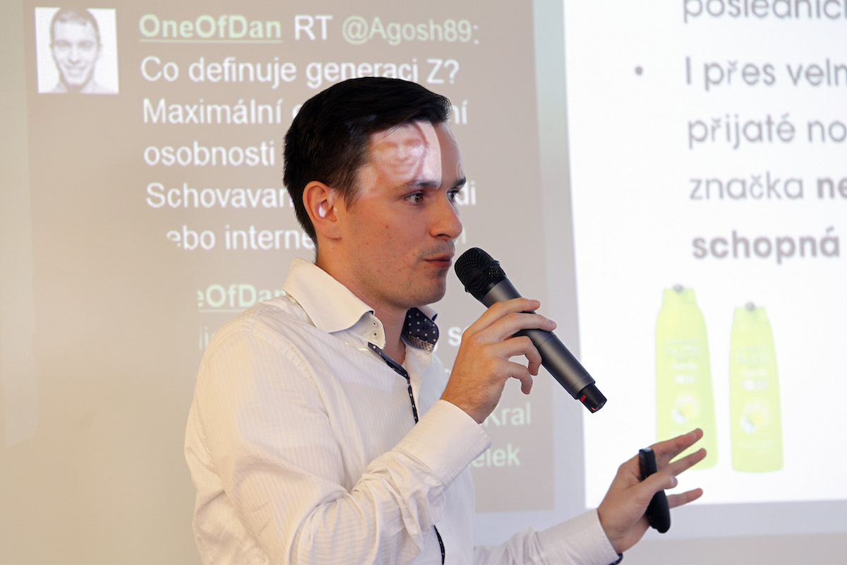 Tomáš Vaněk z L'Oréalu na konferenci Videomarketing 2015. Foto: Jiří Koťátko