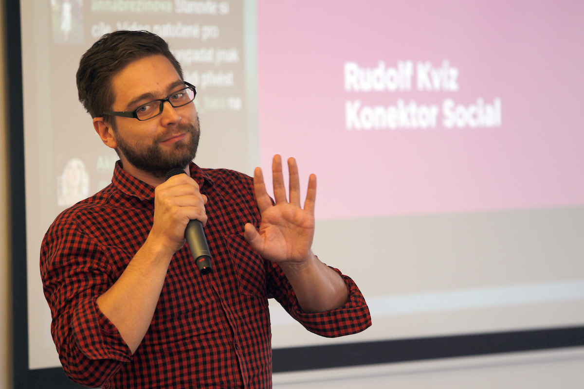 Rudolf Kvíz z Konektor Social. Foto: Jiří Koťátko