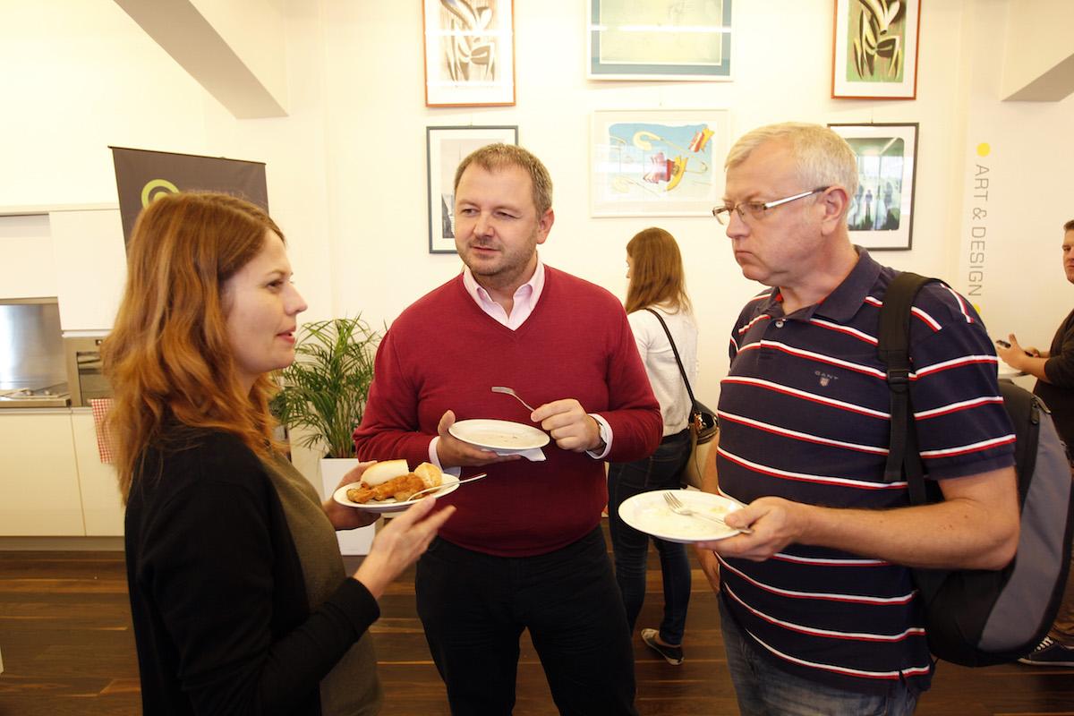 René Jež (uprostřed) s Lucií Vaníčkovou a Janem Poláčkem. Foto: Jiří Koťátko