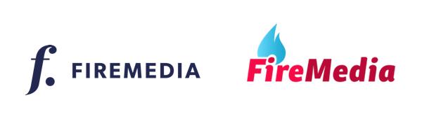 Vlevo nové, vpravo staré logo Firemedia