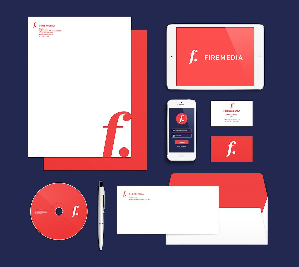 Nový vizuální styl agentury Firemedia