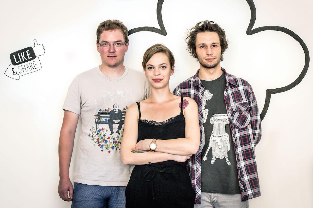 Zleva Matěj Humpál, Michaela Pechanová, Miloslav Nosovský. Foto: Bubble