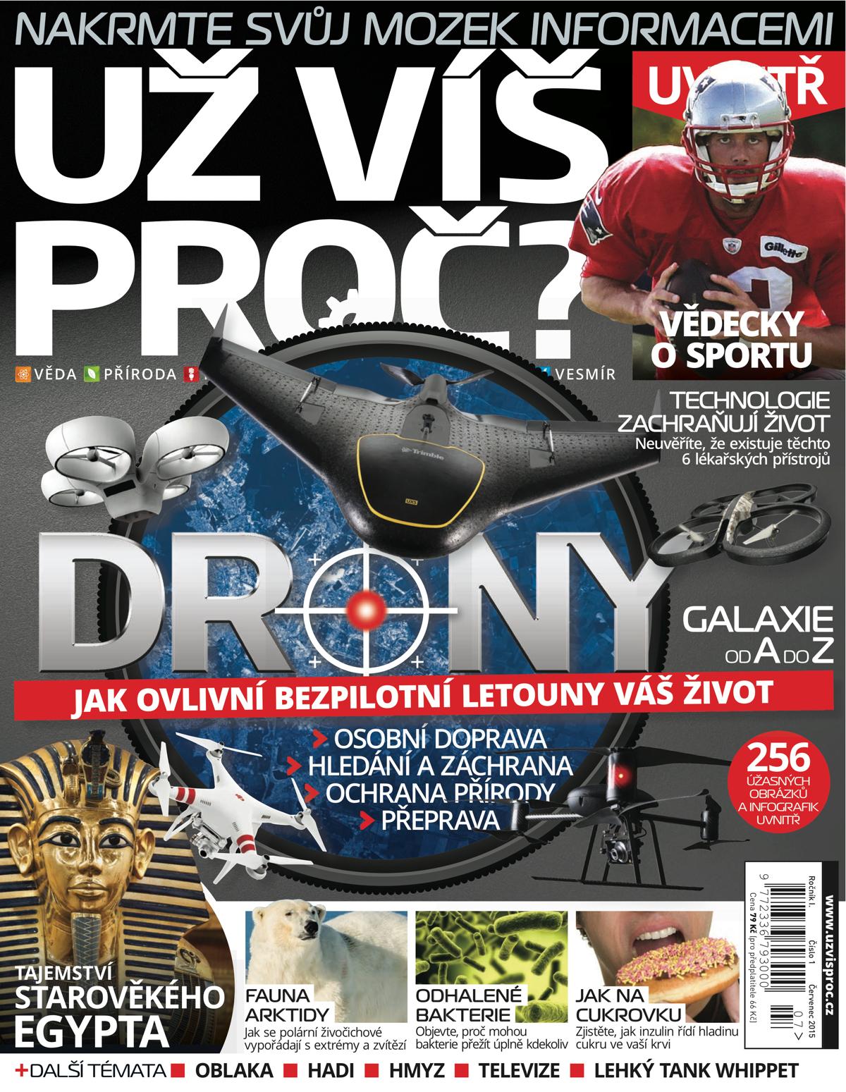 Titulní strana prvního českého vydání časopisu Už víš proč?