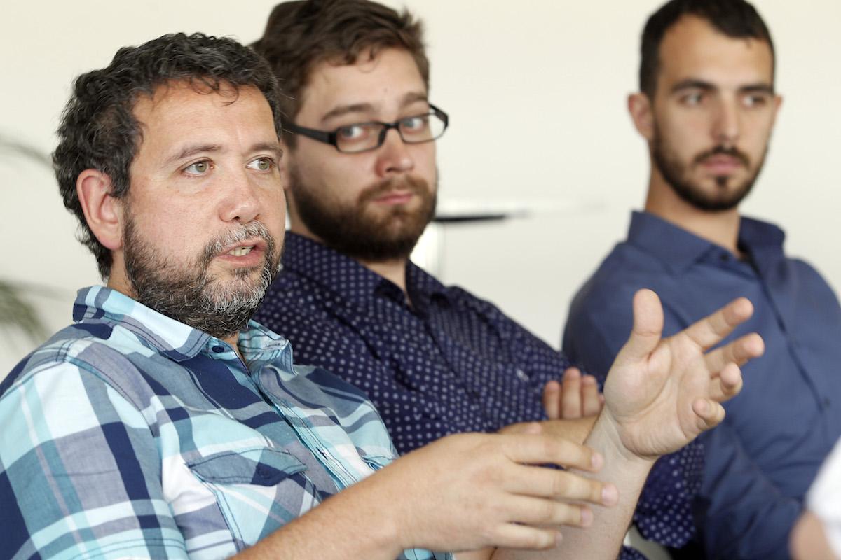 Zleva Marko Zekič, Rudolf Kvíz, Tomáš Gavlas. Foto: Jiří Koťátko