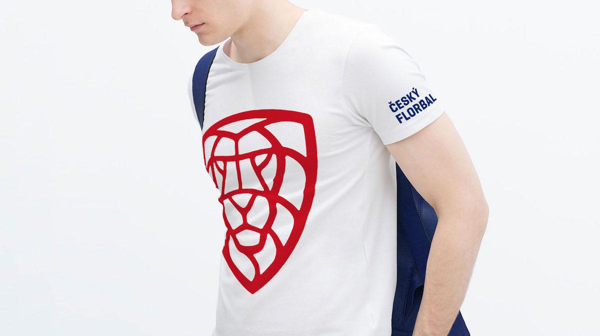 Nové logo florbalu v Česku: tričko