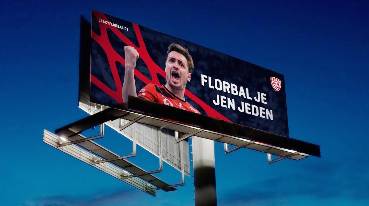 Nové logo florbalu v Česku: billboard