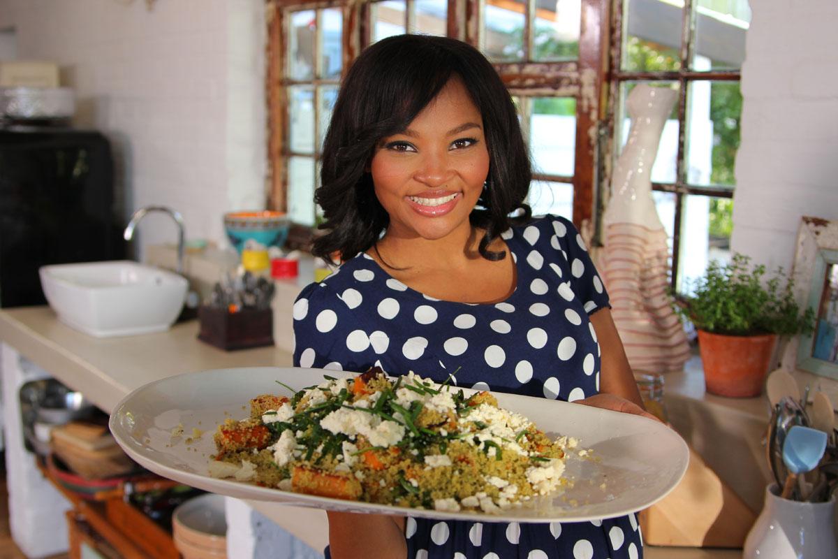 Siba Mtongana v pořadu se Sibou u stolu.  Foto: Food