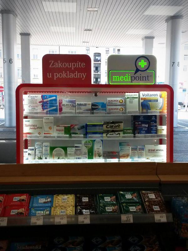 Prodejní místa s léky budou v Benzině označena jako Medipoint