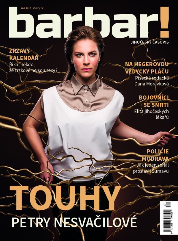 Titulní strana zářijového čísla magazínu Barbar