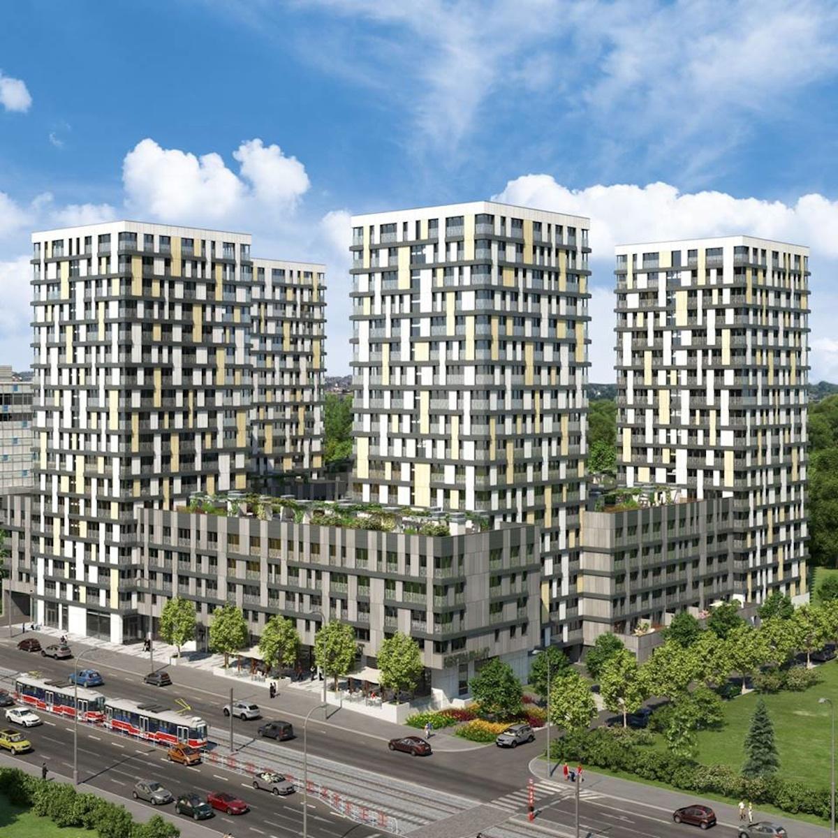Mezi developerské projekty Central Group patří například projektu pražský Residence Garden Towers