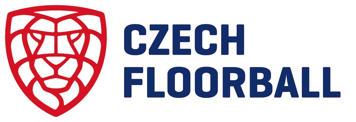 Nové logo florbalu v Česku, v angličtině