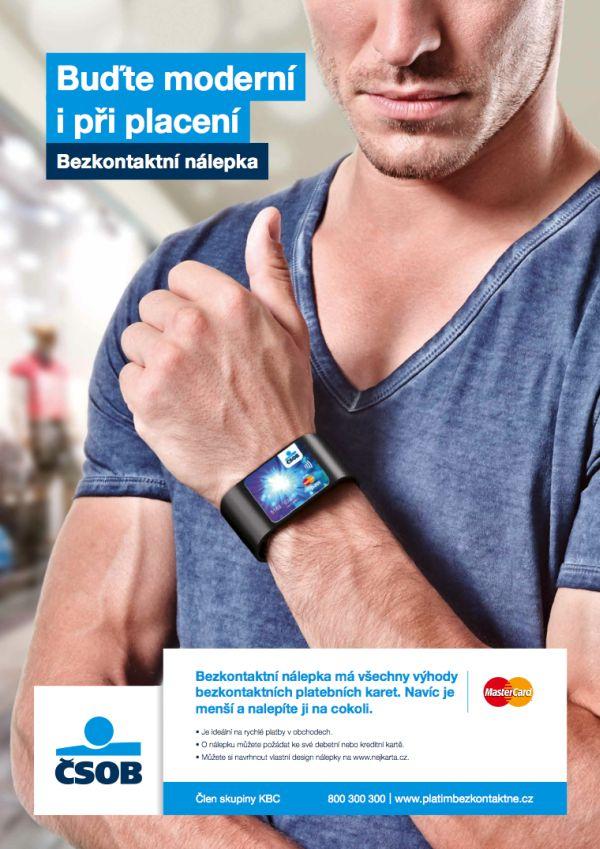 Pro ČSOB realizovala Proximity loni kampaň na bezkontaktní platební nálepky