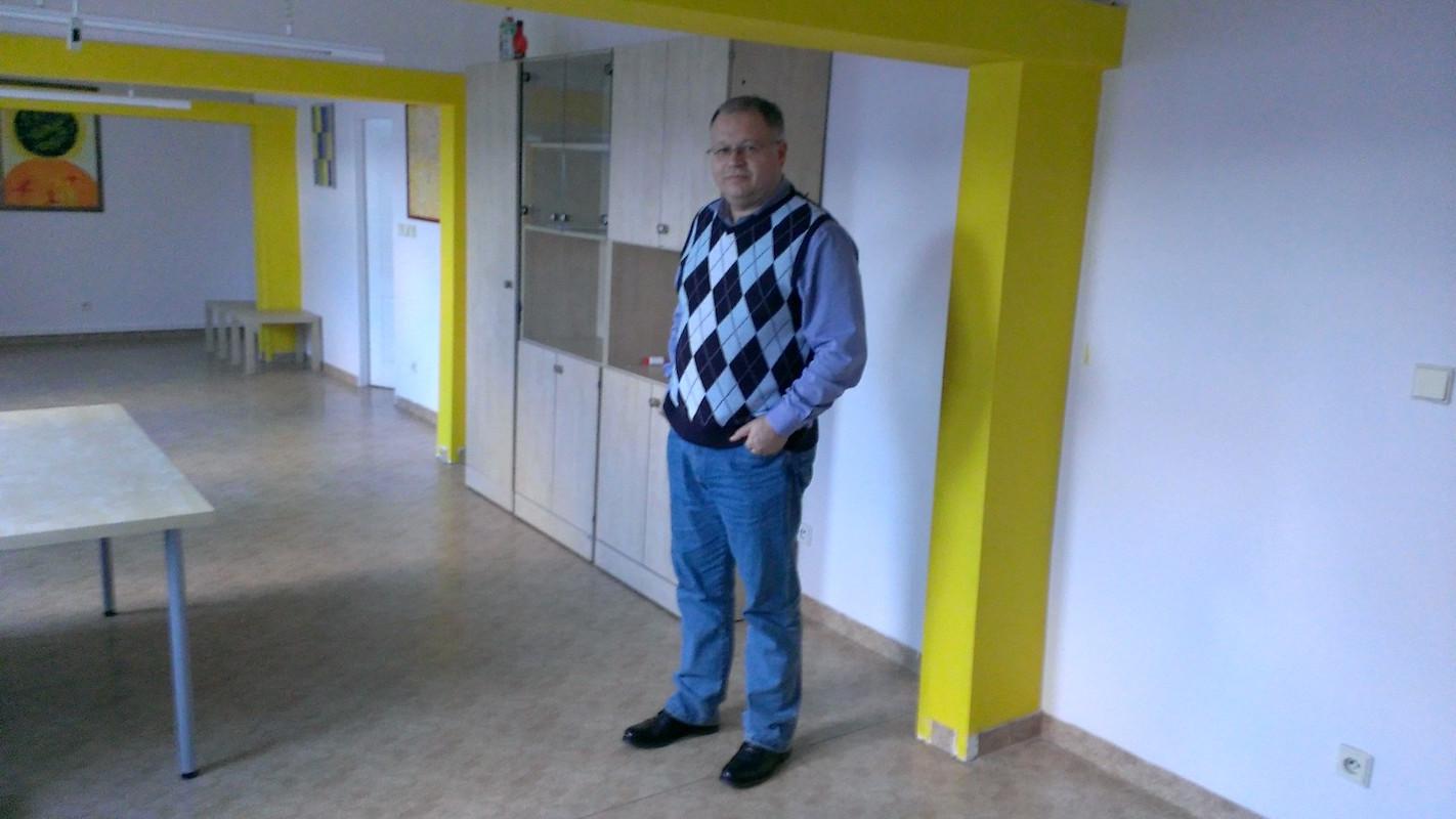 Michal Klíma v sídle svého vydavatelství Tablet Media na pražské Letné