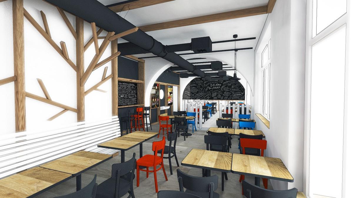 Vizualizace nové restaurace