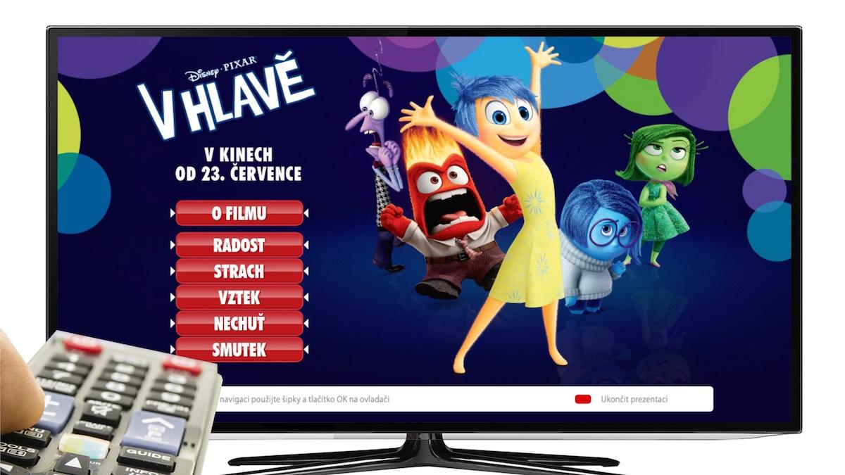 Ukázka z plánované aplikace Primy pro platformu HbbTV