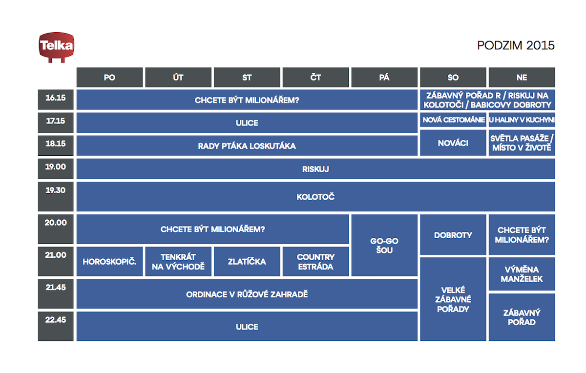 Podzimní programové schéma Telky