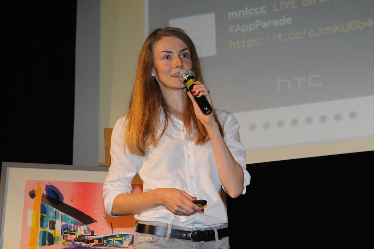 Olga Afanasjeva prezentuje aplikaci German with Moritz