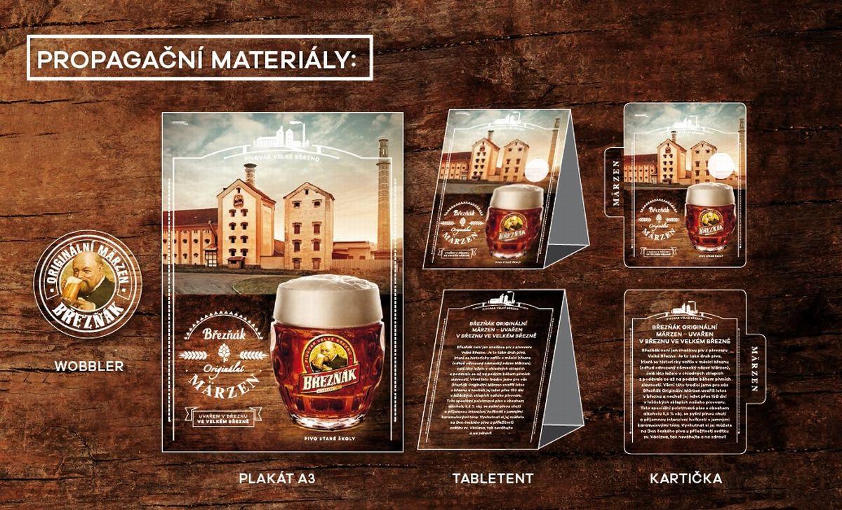 Pivo Märzen propagují plakáty a podtácky přímo v restauracích