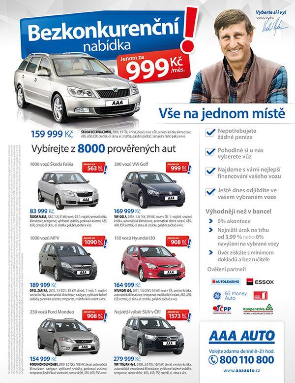 Kampaň AAA Auto využije i letáky se známými lidmi