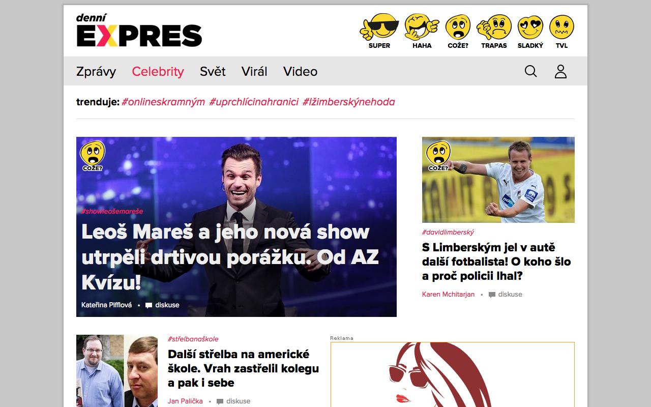 Titulní strana Expres.cz