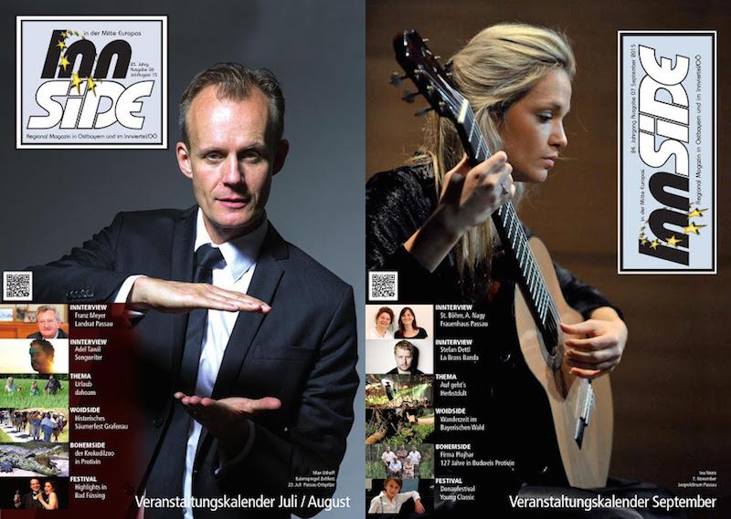 Srpnová a zářijová titulní strana časopisu Innside