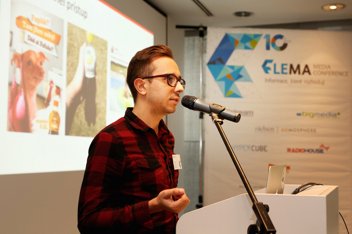 Peter Mižík ze Zaraguzy na konferenci Flema. Foto: Hynek Glos