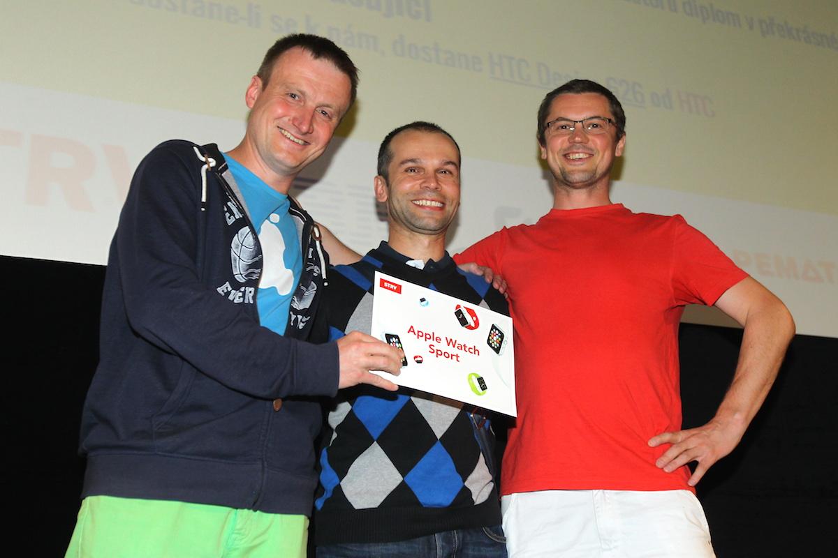 Ondřej Červinka (vlevo) s kolegy s Myia Systems slavili dvojnásobnou výhru. Foto: Tomáš Pánek