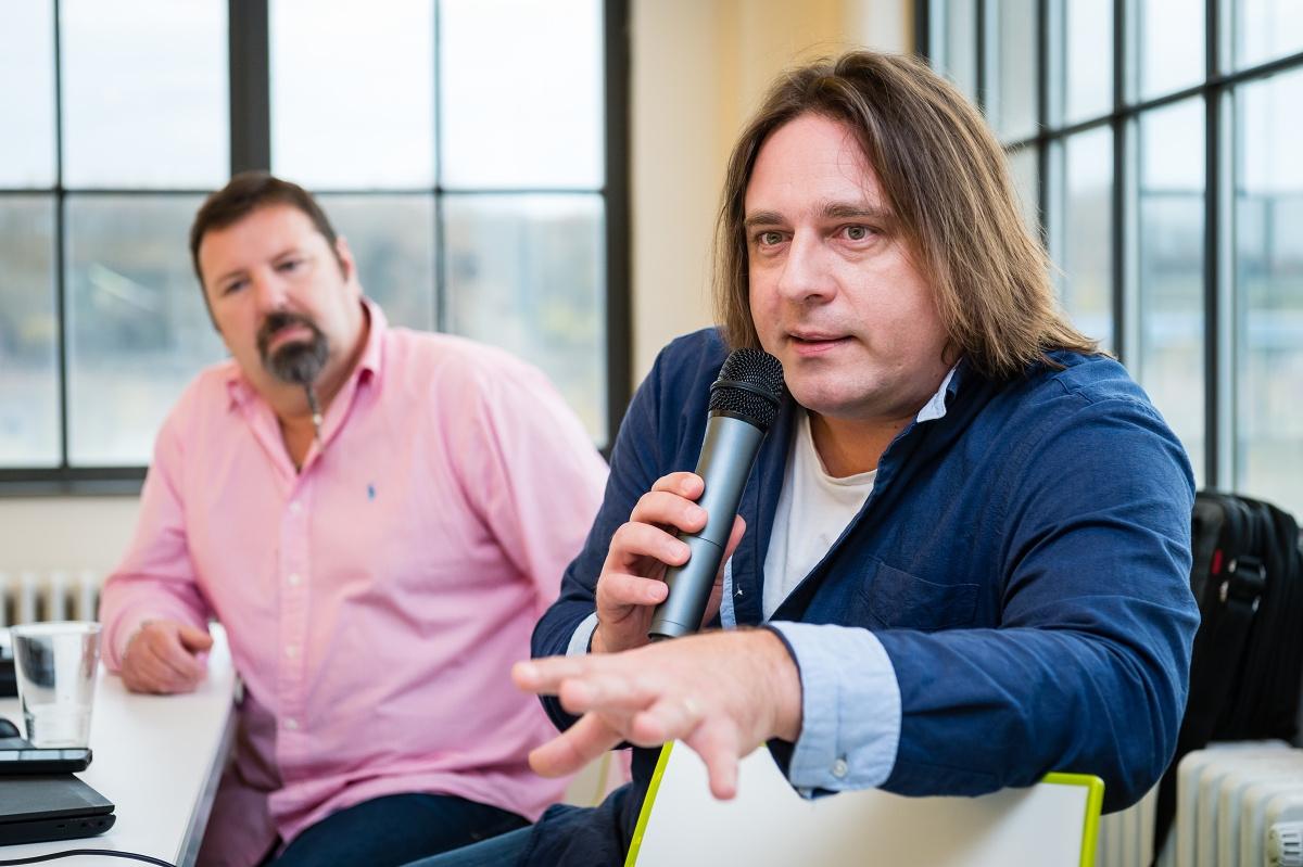 Karel Balčirák s kolegou