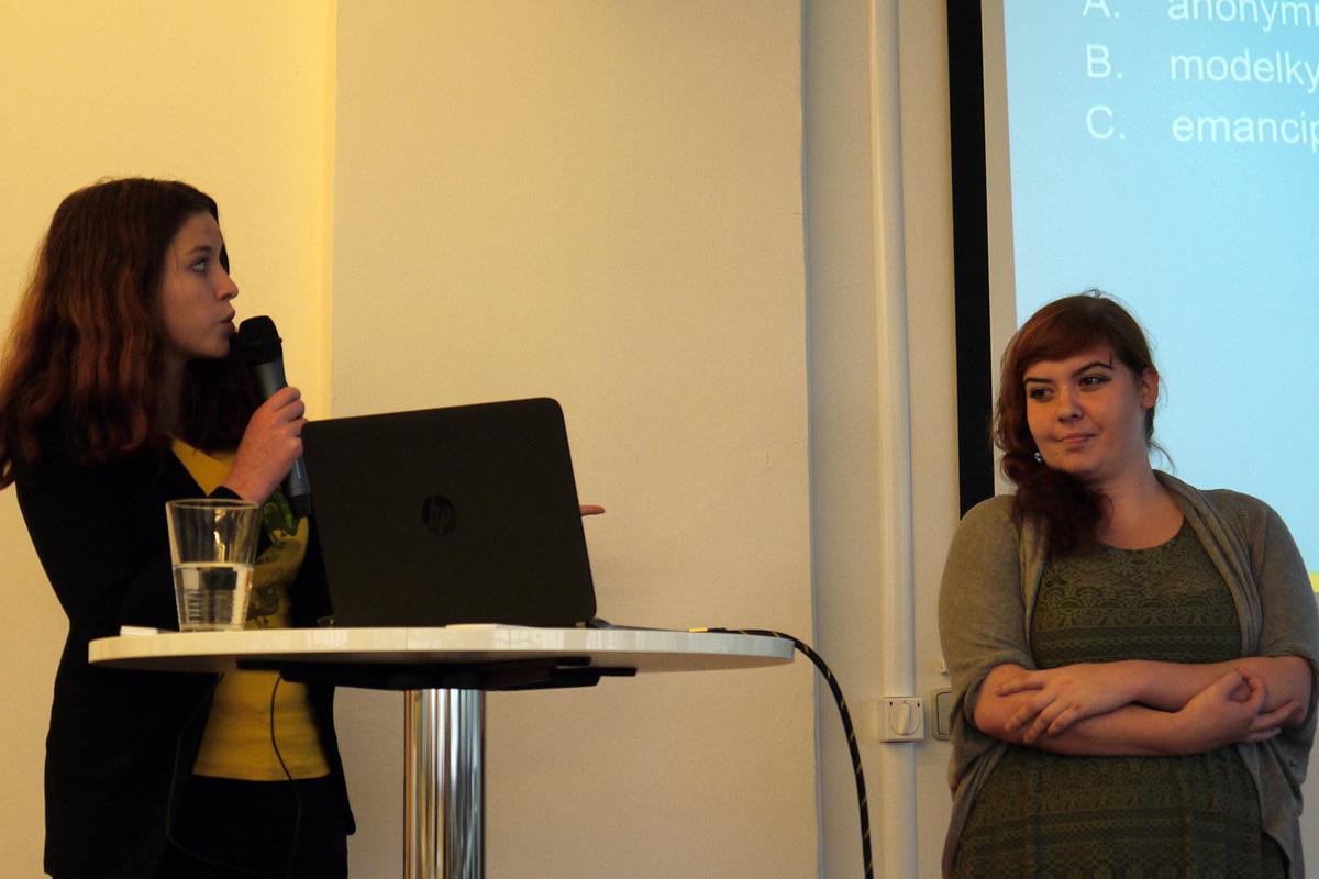 Lucie Palkosková z Follow Bubble a Eva Došková z Triad Advertising. Foto: Jan Marcinek, Flemedia