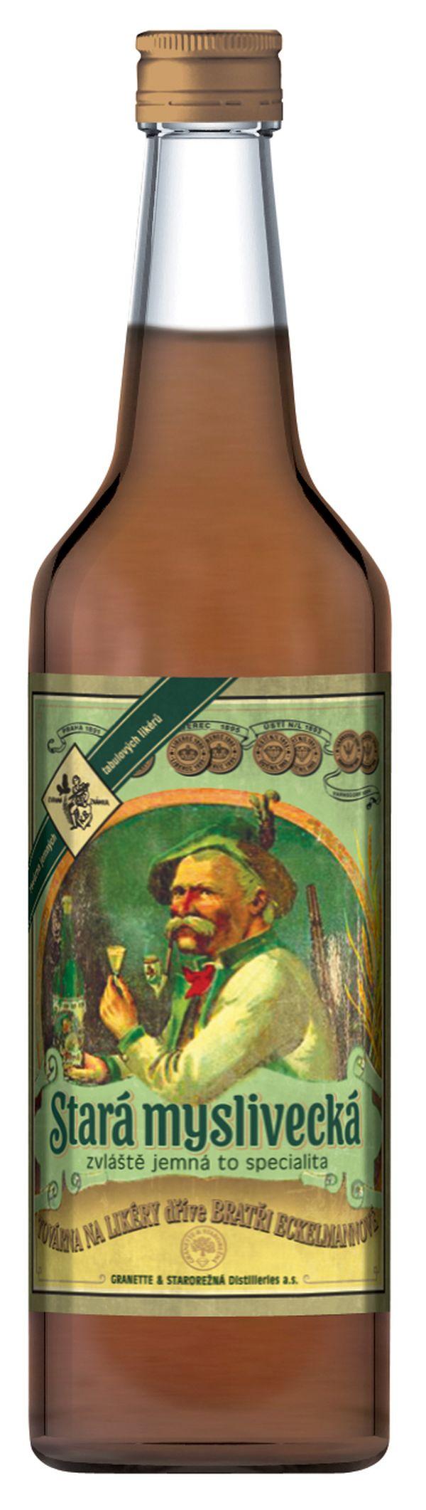 Nebude chybět ani lahev Staré myslivecké s původní etiketou