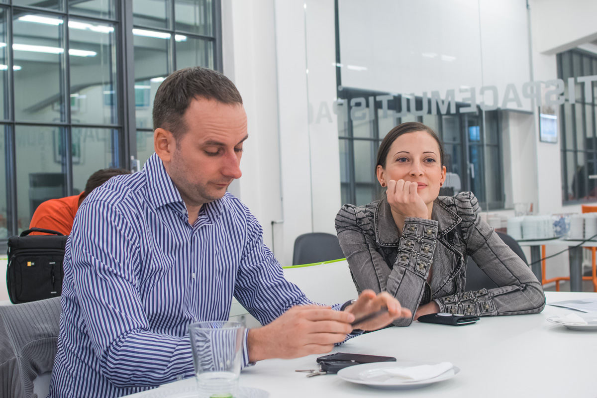 Na AppParade Meet opět byli Michal Bilka a Veronika Hlaváčová ze Slevomatu. Foto: Martina Votrubová