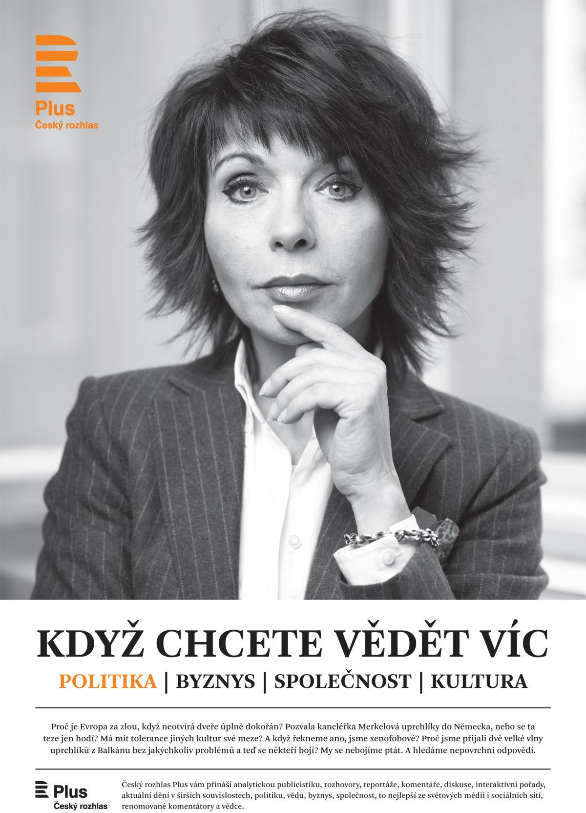 Barbora Tachecí je tváří nové kampaně ČRo Plus. Foto: Český rozhlas
