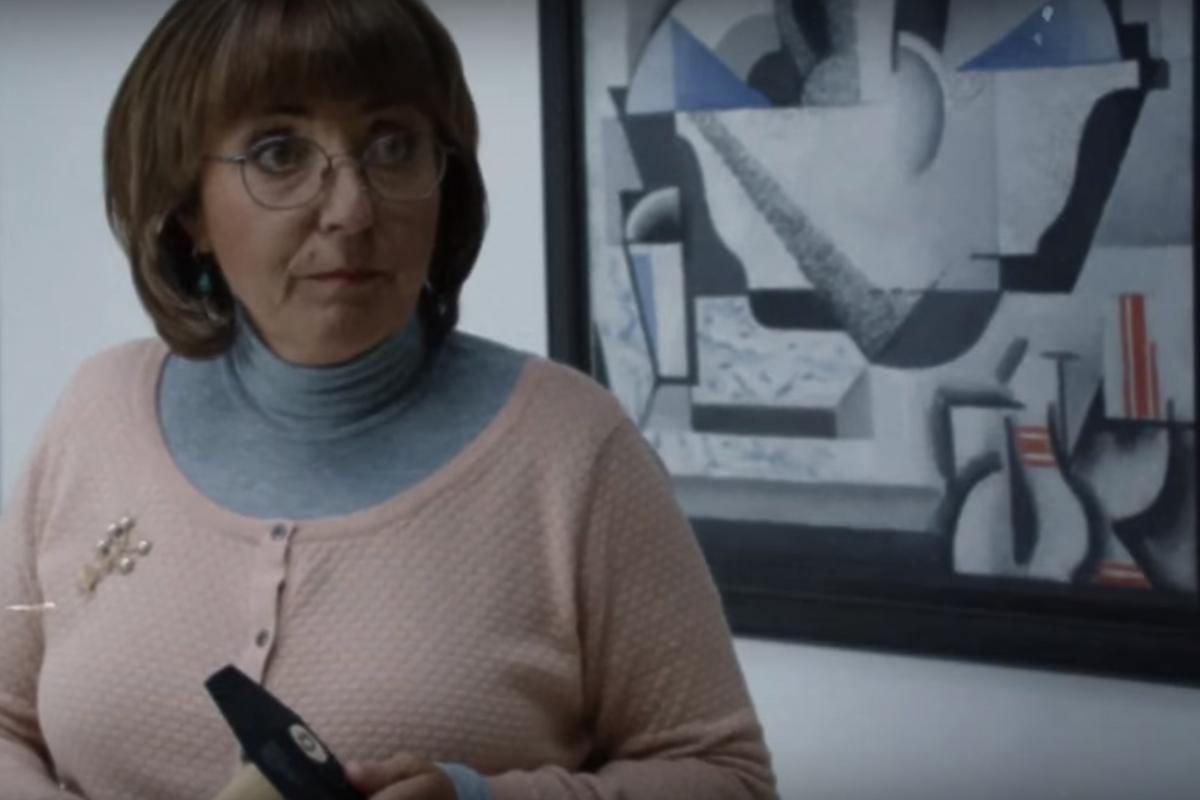 Hrzánová v reklamě Národní galerie v Praze
