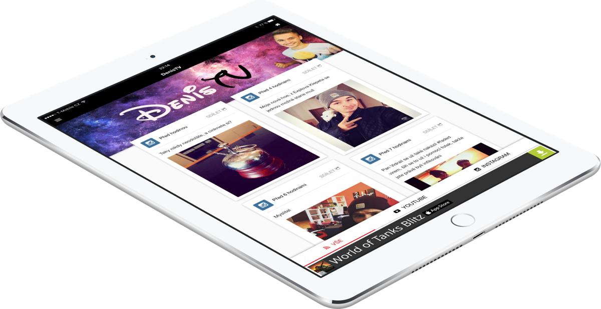 Ukázka z aplikace firmy Tubrr pro youtubery