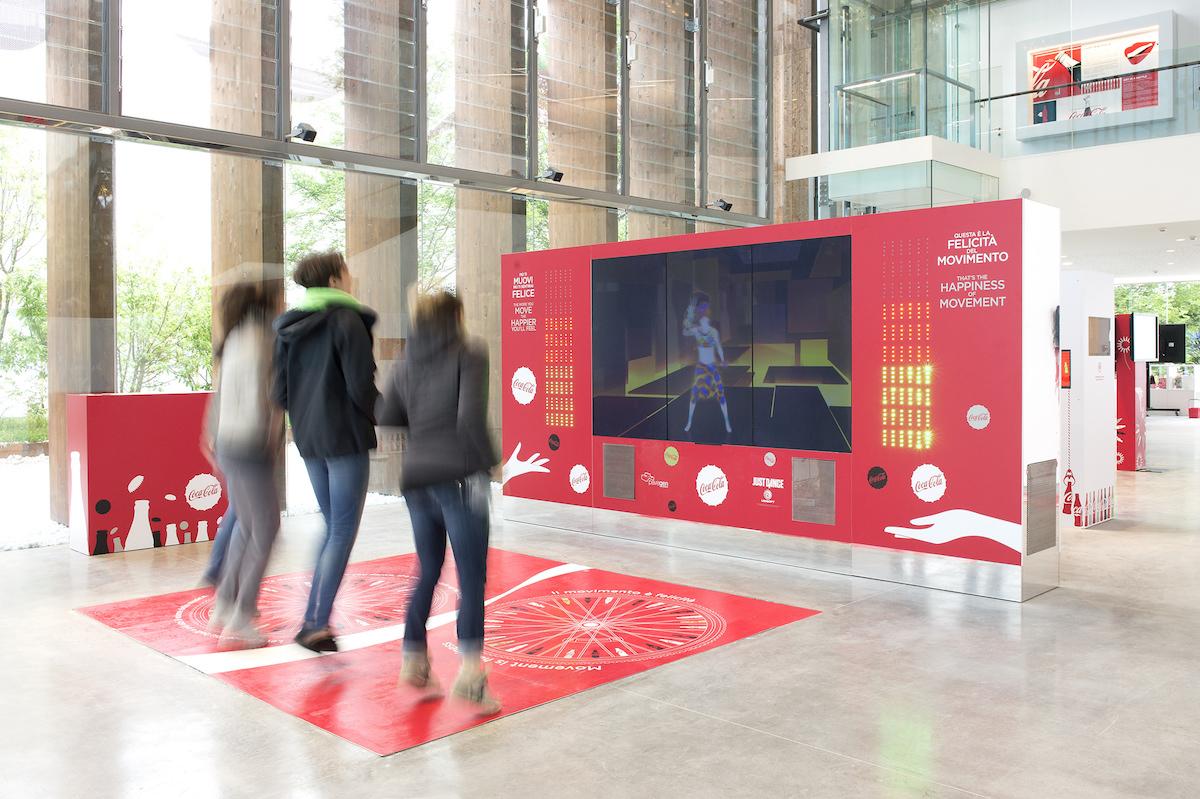 Pavilon Coca-Coly na milánské světové výstavě Expo: interiér