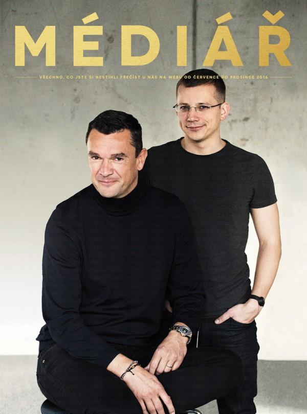 Martin Poš a Jan Řežáb na obálce 5. čísla tištěného Médiáře