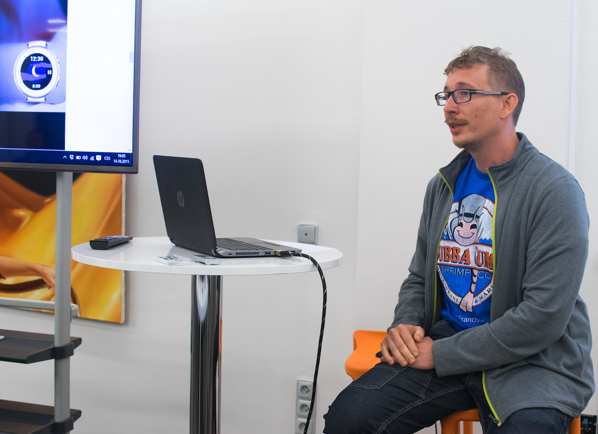 Petr Nálevka z vývojářského studia Urbandroid Team. Foto: Martina Votrubová