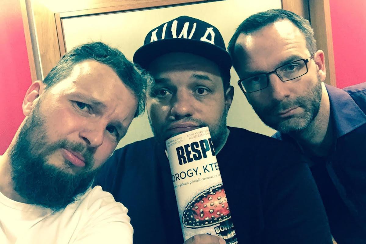 Luděk Staněk (uprostřed) hostem podcastu Médiáře